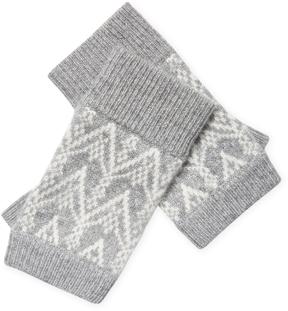 Sofia Cashmere Women's Cashmere Fair Isle Fingerless Gloves