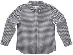 Marie Chantal Boys Checkered Button Down Shirt - Grey/Navy