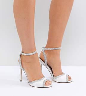 Asos HITCHED Wide Fit Bridal Embellished Heeled Sandals