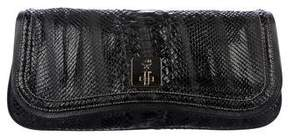 MCM Leather-Trimmed Python Clutch