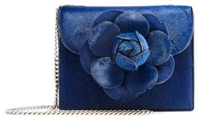Oscar de la Renta Navy Pony Hair Mini TRO Bag