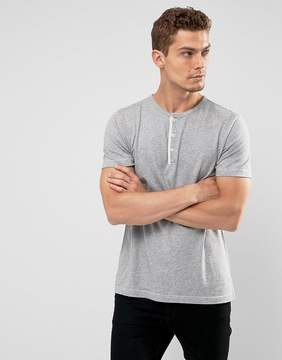 Abercrombie & Fitch Henley T-Shirt White Label Slim Fit in Gray Marl