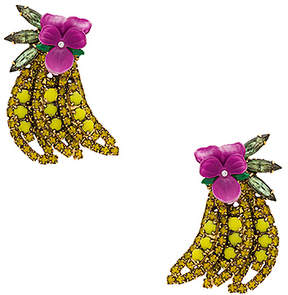 Elizabeth Cole Gone Bananas Statement Earrings