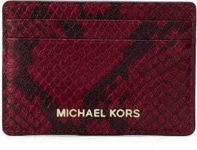 MICHAEL Michael Kors snakeskin effect cardholder - RED - STYLE