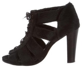 Opening Ceremony Ponyhair Lace-Up Booties