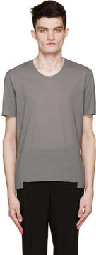 CNC Costume National Grey Exposed Seams T-Shirt