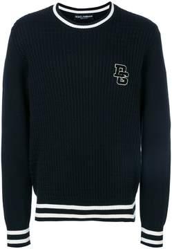 Dolce & Gabbana ribbed stripe hem sweater