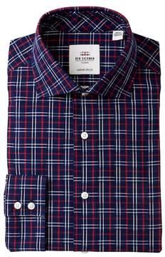Ben Sherman Textured Check Tailored Slim Fit Dress Shirt