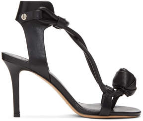 Isabel Marant Black Ablee Tulip Bow Sandals