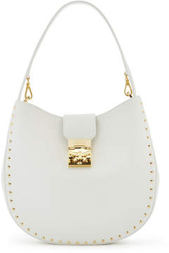 MCM Patricia Hobo In Studded Outline Park Avenue Leather