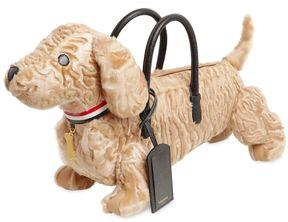 Thom Browne Hector Sheep Fur & Leather Bag
