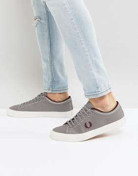 Fred Perry Kendrick Tipped Cuff Canvas Sneakers in Gray