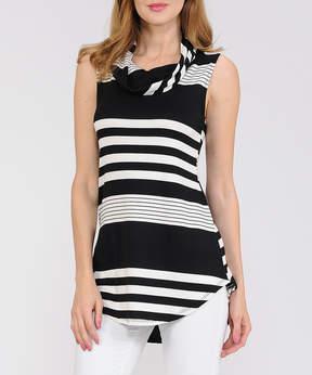 Celeste Black Stripe Sleeveless Top - Women