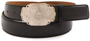Brooks Brothers Cordovan Belt with Etched Buckle