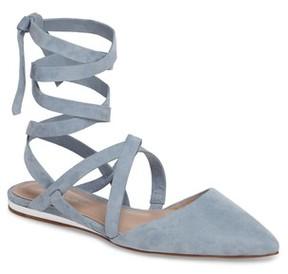 BCBGMAXAZRIA Women's Noel Ankle Wrap Flat
