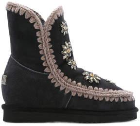 Mou floral rhinestone eskimo boots