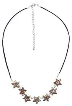 MANGO Glitter stars necklace