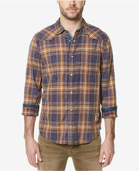 Buffalo David Bitton Men's Contrast-Trim Plaid Shirt