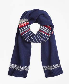 Brooks Brothers Nordic Fair Isle Scarf