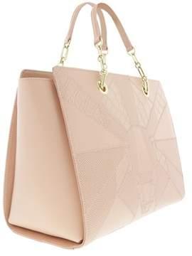 Roberto Cavalli Medium Handbag Elisabeth 002 Nude Satchel Bag.