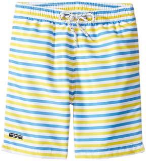 Toobydoo Blue & Yellow Stripe Swimsuit - Regular (Infant/Toddler/Little Kids/Big Kids)