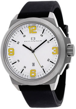 Oceanaut Armada Mens Black Rubber Strap Watch