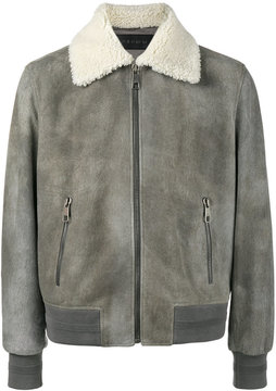 Neil Barrett suede and shearling bomber jacket