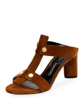 Tom Ford Suede T-Caged 65mm Sandal