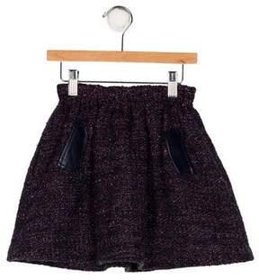 Lili Gaufrette Tweed Flare Skirt