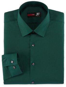 Jf J.Ferrar Jf Easy-Care Solid Slim Fit Long Sleeve Dress Shirt