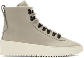 Fear Of God Grey Nubuck Hiking Sneaker Boots