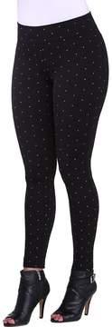 Allison Daley ADX SLIMS by Petites Silver Dot Print Leggings