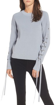 J.o.a. Women's Lace-Up Sleeve Sweater