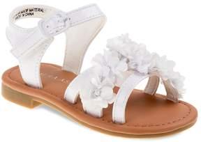 Laura Ashley Toddler Girls' Ankle-Cuff Flower Sandals