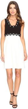 Christin Michaels Aviana Sleeveless Dress with Flower Detail Women's Dress