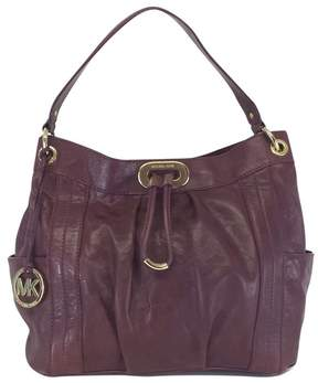 Michael Kors Purple Leather Shoulder Bag - PURPLE - STYLE