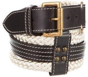 Etro Leather Rope Belt