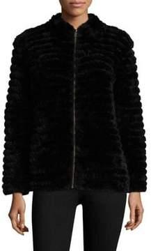 Adrienne Landau Rabbit Fur Jacket