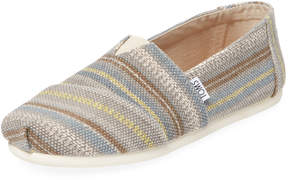 Toms Men's Alpargata Striped Slip-On Shoe