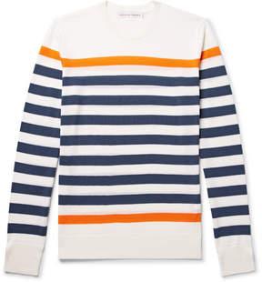 Orlebar Brown Lucas Slim-Fit Striped Merino Wool T-Shirt