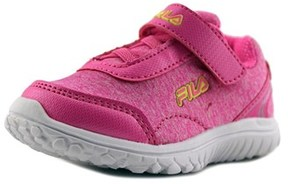 Fila Lite Spring Heather Strap Toddler Round Toe Synthetic Pink Sneakers.