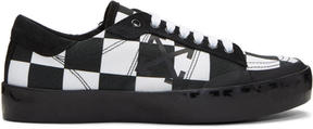 Off-White Black and White Checkerboard Vulcanised Arrows Sneakers