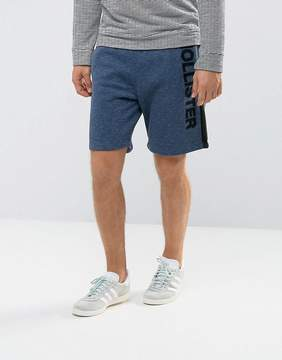 Hollister Sweat Shorts Leg Logo in Navy