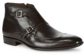 Mezlan Medall Leather Monk Strap