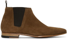 Paul Smith Brown Suede Marlowe Chelsea Boots