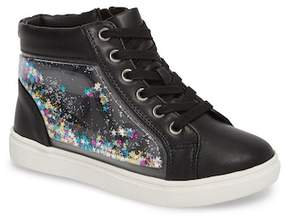 Steve Madden Shakey Floating Glitter High Top Sneaker (Little Kid & Big Kid)