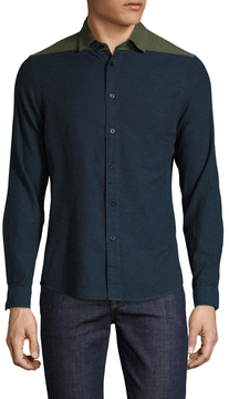 Commune De Paris Men's Laudelle Cotton Sportshirt