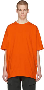 Helmut Lang SSENSE Exclusive Orange Oversized Uni Sleeve T-Shirt