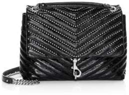 Rebecca Minkoff Edie Bead-Chain Leather Flap Shoulder Bag