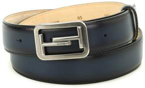 Tod's Double T Buckle Leather Belt